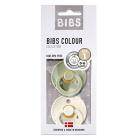 Набор BIBS Colour: Ivory/Sage, 0-6 мес