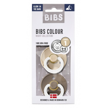Набор BIBS Colour: Vanilla Night/Dark Oak Night, 0-6 мес