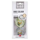 Набор BIBS Colour: Sage/Cloud, 0-6 мес