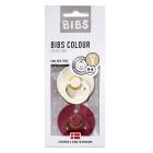 Набор BIBS Colour: Ivory/Ruby, 0-6 мес