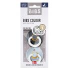 Набор BIBS Colour: Iron Night/Baby Blue Night, 0-6 мес