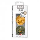 Набор BIBS Colour: Honey Bee/Olive, 0-6 мес