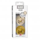 Набор BIBS Colour: Vanilla/Mustard, 0-6 мес