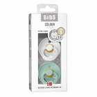 Набор BIBS Colour: White/Mint, 0-6 мес