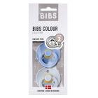 Набор BIBS Colour: Sky Blue/Baby Blue, 6-18 мес