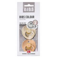 Набор BIBS Colour: Vanilla/Peach, 6-18 мес