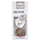Набор BIBS Colour: White/Dark Oak, 6-18 мес