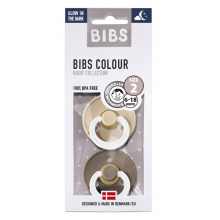 Набор BIBS Colour: Vanilla Night/Dark Oak Night, 6-18 мес