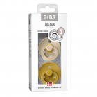 Набор BIBS Colour: Vanilla/Mustard, 6-18 мес