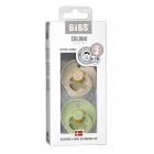 Набор BIBS Colour: Sand/Pistachio, 6-18 мес