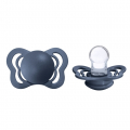BIBS Couture Silicone Steel Blue 0-6 мес