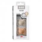 Набор BIBS Couture Silicone: Vanilla/Peach, 0-6 мес
