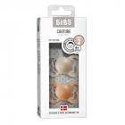 Набор BIBS Couture Silicone: Vanilla/Peach, 6-36 мес
