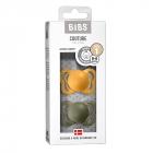 Набор BIBS Couture Latex: Honey Bee/Olive, 0-6 мес
