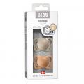 Набор BIBS Couture Latex: Vanilla/Peach, 0-6 мес