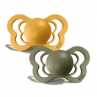 Набор BIBS Couture Silicone: Honey Bee/Olive, 0-6 мес