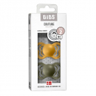 Набор BIBS Couture Latex: Honey Bee/Olive, 6-36 мес