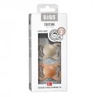Набор BIBS Couture Latex: Vanilla/Peach, 6-36 мес