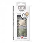 Набор BIBS Supreme Latex : Ivory/Sage, 0-6 мес