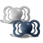 Набор BIBS Supreme Latex : Cloud/Steel Blue, 0-6 мес