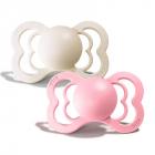 Набор BIBS Supreme Latex : Ivory/Baby Pink, 0-6 мес