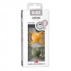 Набор BIBS Supreme Latex : Honey Bee/Olive, 6-36 мес