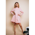 Рубашка-туника для мамы розовая