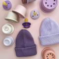 Хлопковая шапка нежно-сиреневый New