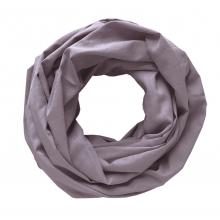 Легкий шарф-снуд сиреневый