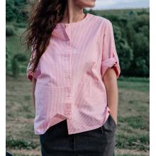 Рубашка в красную полоску для мамы