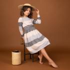 Трикотажное платье в полоску