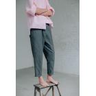 Серые брюки свободного кроя из мягкого хлопка