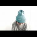 Хлопковая шапка лазурно-голубая