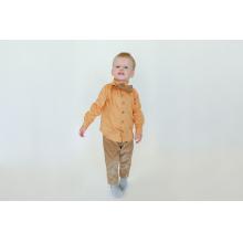 Рубашка для мальчика медовая