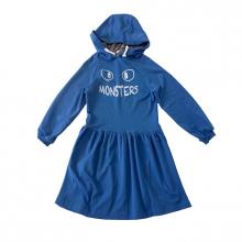 """Платье-туника синее на девочку с принтом """"Monsters"""""""