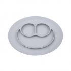 Тарелка ezpz - Mini Mat (светло-серый)