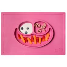 Тарелка ezpz - Happy Mat (розовый)