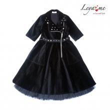 Платье - косуха из черного бархата