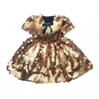 Платье из крупных золотых пайеток