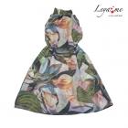 Платье-туника с крупными цветами