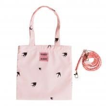 Детская сумка, ласточки на розовом