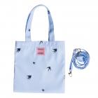Детская сумка, ласточки на голубом