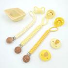 Плетеный держатель, желтые оттенки
