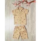 Пижама Юката бежевая с цветами