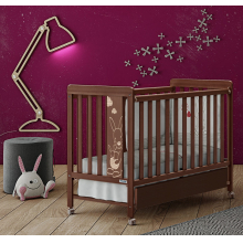 Кроватка 120x60 Micuna Kangaroo Chocolate Матрас полиуретановый СН-620 Chocolate