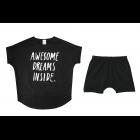 """Детская пижама черная """"Awesome.."""""""