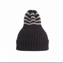 Полосатая шапка антрацит