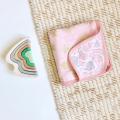 Муслиновое одеяло Mjölk Rose Quartz Metallic/Giraffe Spots