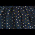 Платье комбинированное желто-синее