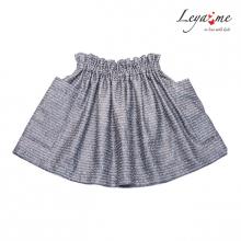 Серебристо-серая юбка с накладными карманами